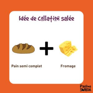 Collation salée pain et fromage