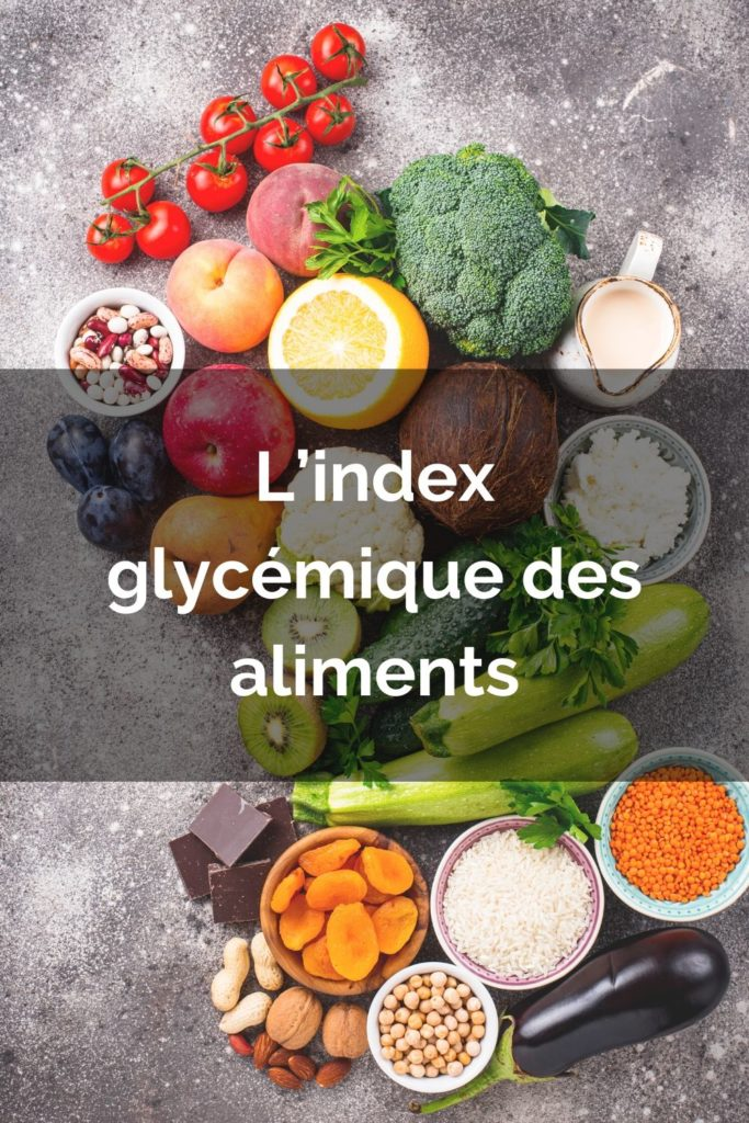 L'index glycémique épingle pinterest
